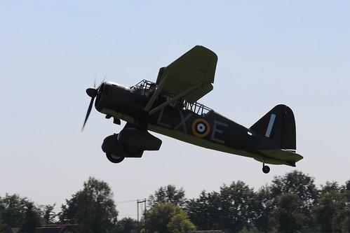 2019-08-24; 0458. Westland Lysander Mk.IIIA (1936), G-CCOM, V9312  LX-E. Wings of Freedom, Ede.