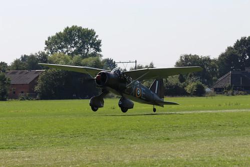 2019-08-24; 0456. Westland Lysander Mk.IIIA (1936), G-CCOM, V9312  LX-E. Wings of Freedom, Ede.