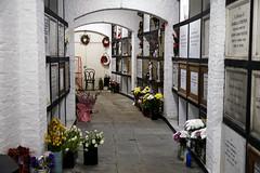 Catacomb columbarium interior - City of London Cemetery, Newham, London England 01