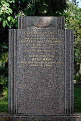 Art Deco gravestone City of London Cemetery Garnham 1948 darker cooler