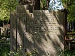 Art Deco gravestone City of London Cemetery Carleton 1935 brighter warmer