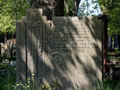 Art Deco gravestone City of London Cemetery Carleton 1935 brighter cooler