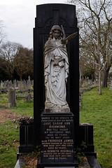 Art Deco gravestone - City of London Cemetery and Crematorium - Jane Sarah Ann, Frederick James, and Kenneth Reginald Richmond