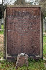 Art Deco gravestone - City of London Cemetery and Crematorium - Frederick Charles Albert and Rebecca Stimpson