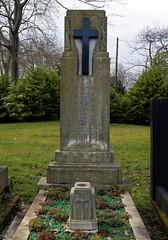 Art Deco gravestone - City of London Cemetery and Crematorium - Florence and Herbert Phillips