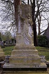 Art Deco gravestone - City of London Cemetery and Crematorium - Emily Salome and William Edward Allpress