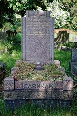 Art Deco graves City of London Cemetery Garnham 1948 brighter warmer