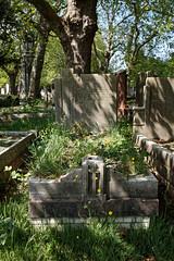 Art Deco grave City of London Cemetery Carleton 1935 brighter warmer