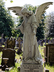 Angel monument City of London Cemetery brighter cooler