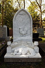 Amos grave City of London Cemetery grey veined white marble 1