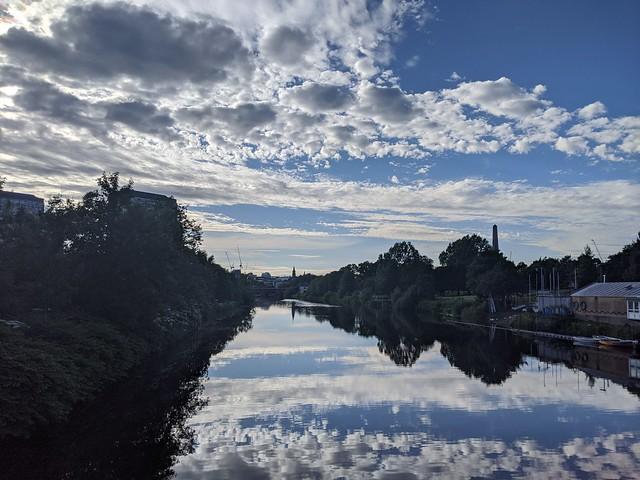Wednesday evening in Glasgow
