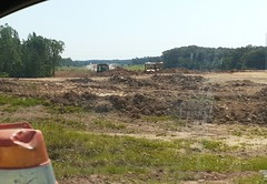 Dirt work starting for the westbound exit ramp
