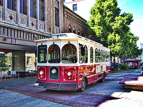 Helena Montana - The Last Chance Gulch Mall - Trolley