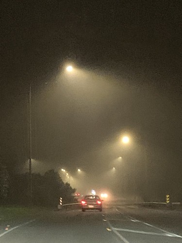 Foggy drive home after training
