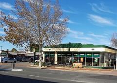 Adelaide. Torrensville. Wonderful 1930s Art Deco motor car garage now a Subway.