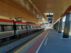 Adelaide. The new underpass Oaklands railway station on the Adelaide to Seaford  suburban line.