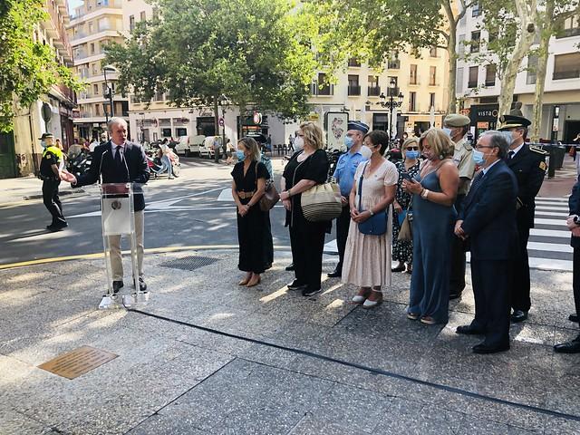 El Justicia en el homenaje a Jesús Argudo, victima del terrorismo