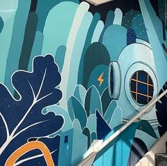 Parking mural, Hyde Park Village