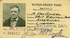 Waterfront pass, 1918