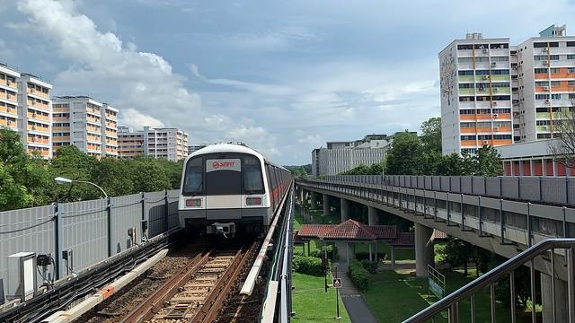 SMRT North South Line - C151 (047/048) departing NS14 Khatib