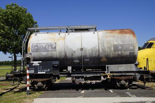 Ex VTG Ketelwagon 23 80 746  5 307-8 db in het Brandweeroefencentrum Noord in Wijster 26-06-2020