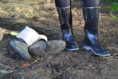 369 -- Testing NEW Wellies to replace my wornout & damaged dunlop boots