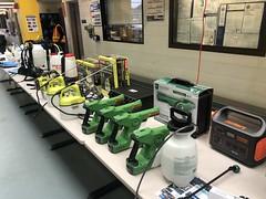 MTA Demonstrates Over a Dozen Disinfectant Sprayers