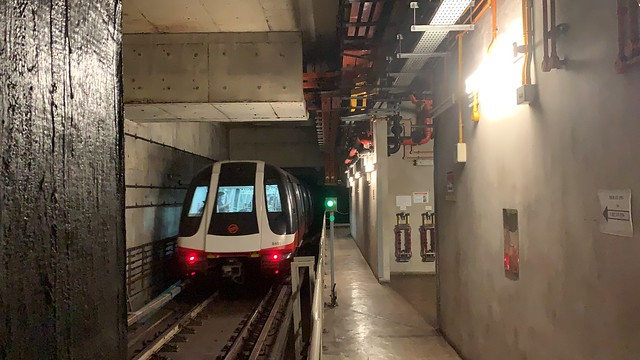 SMRT Circle Line - C830 (840) departing NE12/CC13 Serangoon