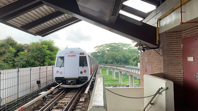 SMRT North South Line - C151B 609/610 departing NS8 Marsiling