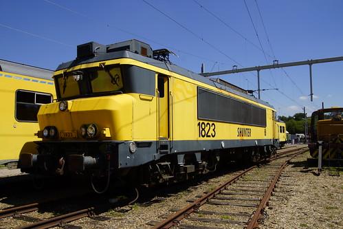 Ex NS 1823 in het Brandweeroefencentrum Noord in Wijster 26-06-2020