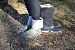368 -- Testing NEW Wellies to replace my wornout & damaged dunlop boots