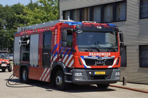 MAN TGM 15.250 Brandweerwagen in het Brandweeroefencentrum Noord in Wijster 26-06-2020
