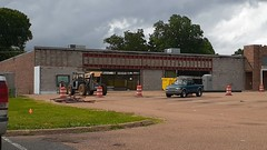 Hernando Fred's, under redevelopment, late June 2020