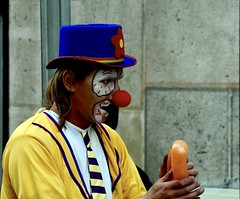 The Clown Yellow dressed