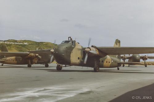 December 13 1977, RNZAF Bristol Freighters NZ5912, NZ5910, NZ5911 depart Wellington Airport on their long trip home on disbandment from Singapore