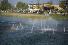 Wasserspiele im Karlssee