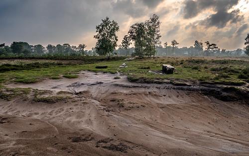 Droge rivierbedding op het Balloërveld