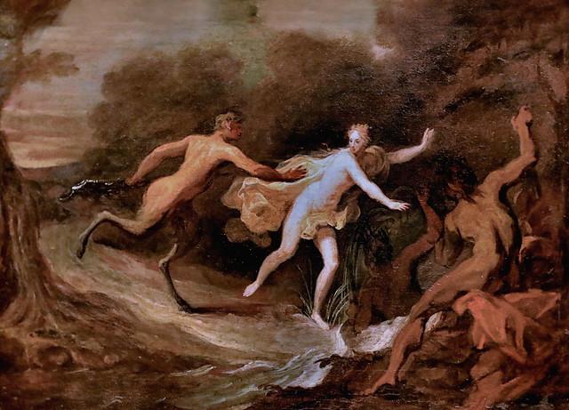 Photo:IMG_3301J Antoine Dieu 1662-1727  Paris Pan et Syrinx  Rennes. Musée des Beaux Arts    sans doute une esquisse  probably a sketch By jean louis mazieres