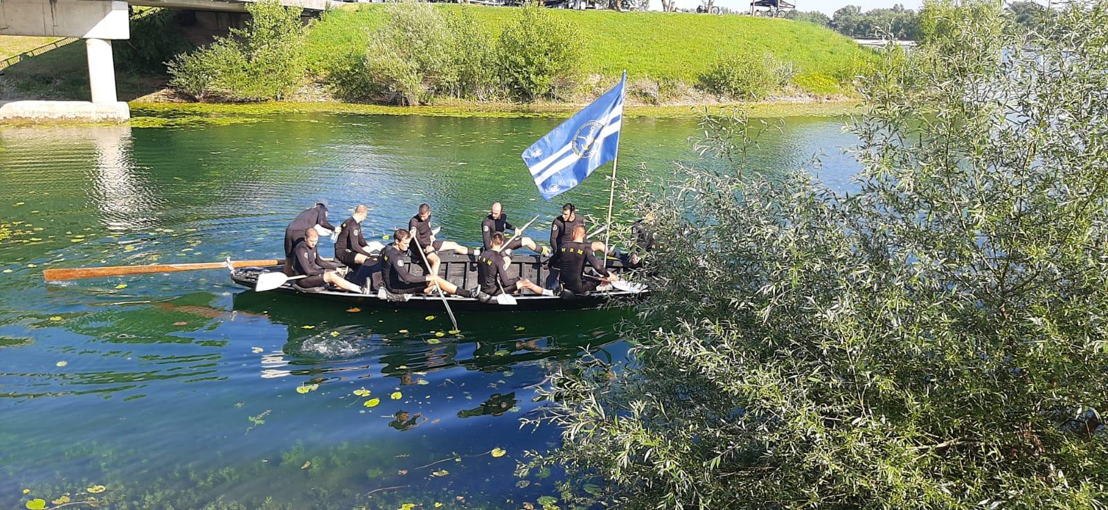Hrvatska ratna mornarica na 5. Lađarskom kupu grada Zagreba