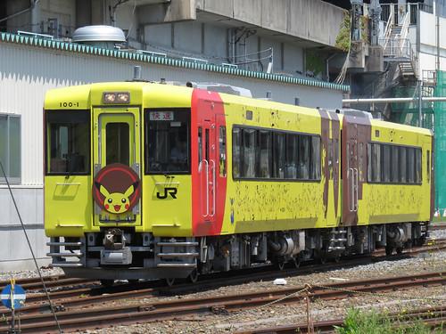 KiHa100_Pokemon_Train(3rd)_Ichinoseki (1)