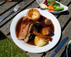 Roast beef Sunday roast at The Stag, Little Easton, Essex, England