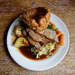 Lamb Sunday roast at Black Horse Inn, Nuthurst West Sussex England