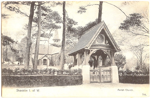 Shanklin - Parish Church and Lych Gate. And Man-Made Mass Starvation.