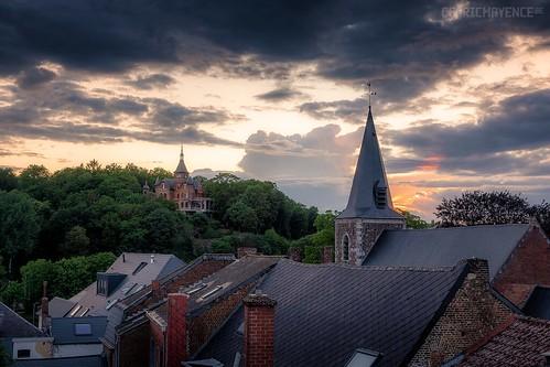 Thuin et son château Beau regard - Belgique
