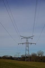 Power transmission tower @ Perrignier