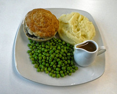 Steak and ale pie at Sainsbury's Low Hall, Chingford, London 2 focus 2