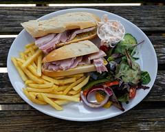 Ham baguette at Black Horse Inn, Nuthurst, West Sussex England