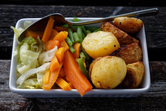 Vegetable side dish for Sunday roast at The Black Bull, Fyfield, Essex, England