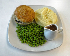 Steak and ale pie at Sainsbury's Low Hall, Chingford, London 2 focus 1