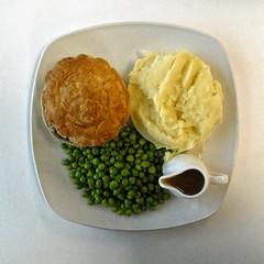 Steak and ale pie at Sainsbury's Low Hall, Chingford, London 1 top view